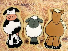 Down on the Farm Farm Cookies, Down On The Farm, Cookie Decorating, Pixie, Mickey Mouse, Snoopy, Country, Disney Characters, Crack Crackers