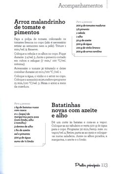 234 receitas para robôs de cozinha (2) Food And Drink, Favorite Recipes, Cooking, Garlic, Sweet Recipes, Rice Side Dishes, Illustrated Recipe, Recipe Books, Food