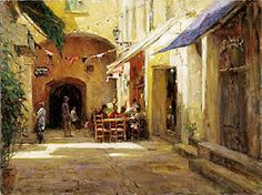 """""""Light in Provence"""" giclee on canvas by Leonard Wren."""