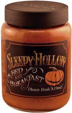 "Sleepy Hollow Jar Candle - Please book ""A Head."" - Kruenpeeper Creek Country Gifts"