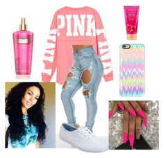 """Untitled #161"" by chynaloggins ❤ liked on Polyvore featuring moda, Victoria's Secret, Keds y Casetify"