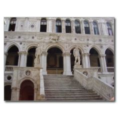 Neptune and Mars Statues, Courtyard of Doges Palace Postcards