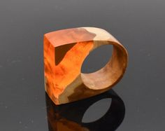 orange resin ring – Etsy