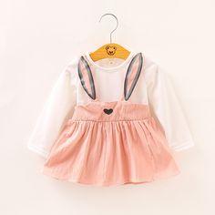 Brace fake two girl dresses baby bunny dresses 06dd41bf276ef
