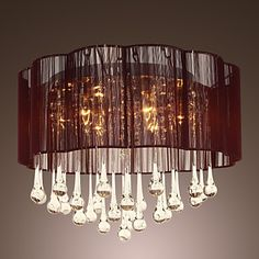 @front door? Crystal Ceiling Light with 6 Lights - USD $ 159.99