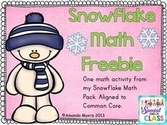 One activity from my Snowflake Math Pack. Aligned to Common Core. Perfect for math work stations or centers. Response sheet included.Amanda Myers