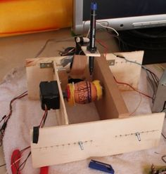 When I discovered the cool eggbot art here on instructables and egg-bot.com i knew what my next gadget would be:-D But i can't spend 200 bucks for it at the moment. So i decided to build it on my own! In the following steps I will outline the basic design of the original egg-bot and show you my approach of building it.