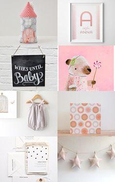 Baby Shower  by Jillian on Etsy--Pinned with TreasuryPin.com   star garland   baby room babyshower   nursery decor