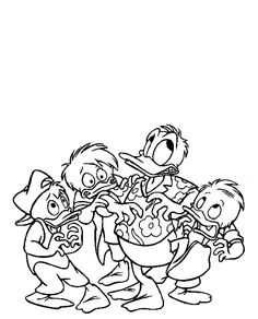 Free Huey Dewey And Louie Coloring Page Pages 23 Printable