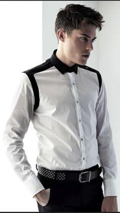 Resultado de imagem para croqui dolmã African Clothing For Men, African Men Fashion, Best Mens Fashion, Mens Designer Shirts, Designer Suits For Men, Classy Casual, Men Casual, Shirt Collar Styles, Cool Shirts For Men