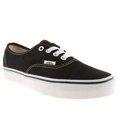 womens vans black & white authentic ii trainers