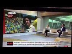 Globo News da destaque a manifestação dia 4 de Dezembro de 2016, no Bras...