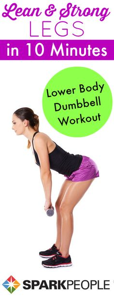 Bootcamp: 10-Minute Lower Body Blast with Dumbbells. I feel really good about this workout - I completed each exercise much better than the last time I went through this challenge - That's my main goal is to work harder and see some additional results this go around!!! | via @SparkPeople #workout #fitness #exercise #homefitness #homeworkout #routine #bootcamp