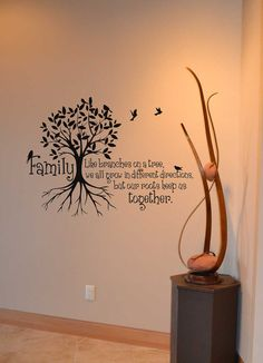 Good Morning Quotes Discover Family Like branches on a tree we all grow in different directions vinyl decal wall words stickers home decor custom Wall Painting Decor, Wall Decor, Vinyl Wall Decals, Wall Stickers, Moving On Quotes Letting Go, Family Tree Wall, Tree Wall Art, Wall Quotes, Wall Sayings