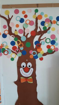 Carnevale Easy Crafts For Kids, Art For Kids, Diy And Crafts, Arts And Crafts, Clown Crafts, Carnival Crafts, Drawing For Kids, Painting For Kids, Theme Carnaval