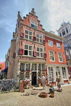 Traditional house, Delft, The Netherlands Kingdom Of The Netherlands, Holland Netherlands, Delft, Wonderful Places, Beautiful Places, Amazing Places, South Holland, Visit Holland, Pub