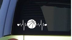 "Basketball heartbeat lifeline *I174* 8"" wide Sticker deca... https://www.amazon.com/dp/B015YE7JIC/ref=cm_sw_r_pi_dp_x_W14MybWJJTBAD"