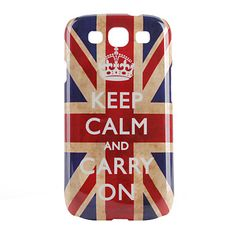 Keep Calm and Carry On Union Jack Pattern Hard Case for Samsung Galaxy S3 i9300 - Galaxy S3 Cases