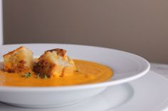Creamy Tomato Soup w/ Grilled Cheese Croutons on A Toast to the Good ...