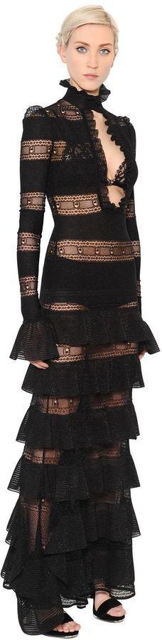Ruffled Silk & Lurex Knit Dress | #Chic Only #Glamour Always