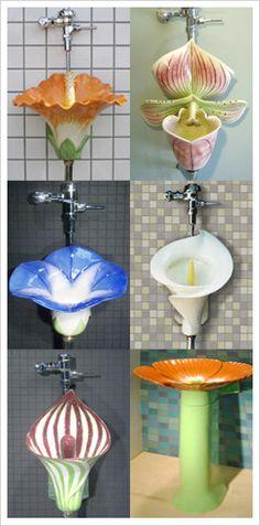 floral urinals ** The PopDot Artist @AlabamaBYRD http://www.facebook.com/AlabamaBYRD Chirp Chirp & Big BYRD Smiles & Hugz