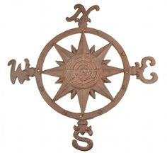 Cast Iron Nautical Compass Wall Plaque Rust Finish 19' Wide * Be sure to check out this awesome product. (This is an affiliate link and I receive a commission for the sales)