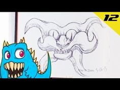 Daily Monster Sketch Journal - Day 12  #sketchmonster #easypicturestodraw   #coolstufftodraw   #howtodrawcoolthings    #funthingstodraw