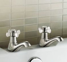 Alamere Traditional Hot and Cold Bath Taps [PT-TB40] - £35.19 : Platinum Taps & Bathrooms
