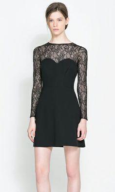 Cute Cheap Slim stitching lace dress - Long-Sleeve Online Shopping Free Shipping 36260701928