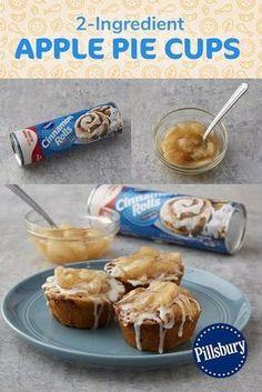 Pillsbury Cinnamon Rolls, Pillsbury Recipes, Köstliche Desserts, Delicious Desserts, Dessert Recipes, Quick Dessert, Cinnamon Roll Apple Pie, Canned Apple Pie Filling, Crockpot