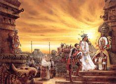 Luis Royo, Death of the Fifth Sun, Tor Books Black Metal, Heavy Metal Art, Elf Warrior, Aztec Warrior, Conquistador, Thrash Metal, Science Fiction, Dark Paintings, Art Of Fighting