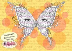 PNG Digital Stamp  Eye Butterfly Light Version  by AuroraWings