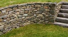 dry stone retaining wall construction - Google Search