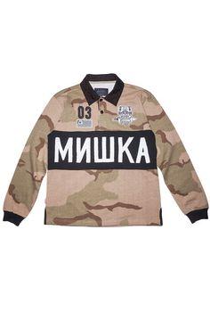 866d61f8 Mishka Shirt Sirocco Desert Rugby Desert Camo - Karmaloop.com Mishka,  Desert Camo,