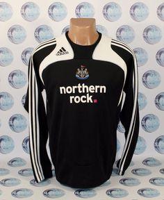 NEWCASTLE UNITED 2008 2009 FOOTBALL SOCCER JACKET COAT BOMBER ADIDAS RARE 38 #adidas #NewcastleUnited