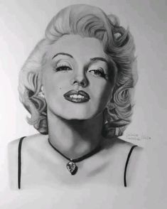 Marilyn Monroe drawing by Sascha Schürz. Marylin Monroe Drawing, Charcoal Portraits, Celebrity Photos, Gifs, Pencil, The Incredibles, Black And White, Female, Sketches