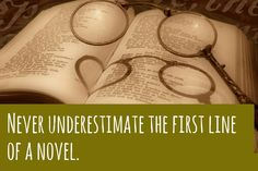 Never Underestimate the First Line of a Novel