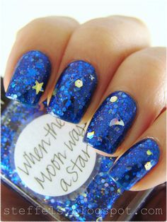 When the Moon was a Star. One coat over China Glaze Blue Year's Eve.