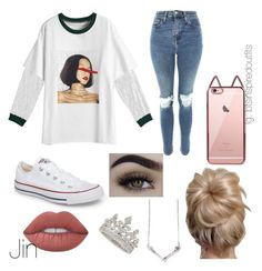 """""""Bts Inspired outfits"""" by jungkookwifeuoml on Polyvore featuring Topshop, Converse and Lime Crime"""