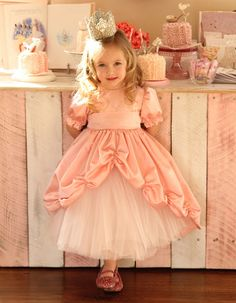 This dress from girl.inspired is gorgeous! There is a tutorial on how to make the bustle.