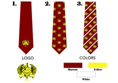 Customised Designs of Logo Necktie for Client.
