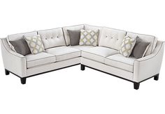 Shop for a Cindy Crawford State Street Vanilla 2Pc Sectional at Rooms To Go. Find Living Room Sets that will look great in your home and complement the rest of your furniture.