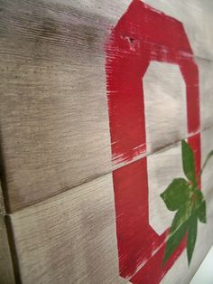 The Ohio State Buckeyes Block O Wood Wall Hanging by Thula on Etsy, $38.00
