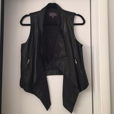 Patterson Kincaid leather vest Lamb leather vest-perfect for Fall.  Can be worn with jeans & a tee or over a chiffon dress or blouse!  Functional zippers & pockets. Worn once. Patterson Kincaid Other