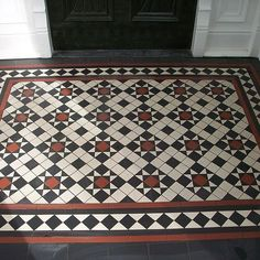 New installation of Victorian tile designs. Greenwich