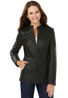 Just $34.99 !! Cato Leather Look Embossed Jacket Jrs/Miss Sizes Black NEW/NWT Motorcycle?Winter #Cato #JacketCasualWinterMotorcycle