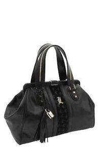 L A M B Gwen Stefani Love Venezia Framed Satchel Handbag Purse 725 Ebay Black Leather