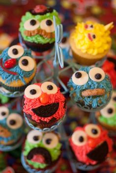 Sesame Street Cupcake Tower!