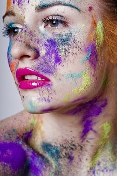 powder paint color  Love this image and how you can still see the person's skin through the colours