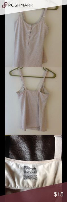 Gilligan &O'malley built in bra camisole S In good condition, built in bra Gilligan & O'Malley Tops Camisoles